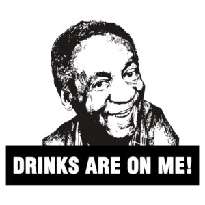 Bill Cosby Drinks Are On Me Funny T-Shirt