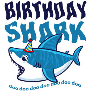 Birthday Shark - First Birthday Shirt. 1st Birthday Shirt. Boys Happy Birthday. Custom T-Shirt with your boys name and age. Personalized Birthday T-Shirt