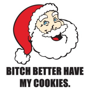 bitch better have my cookies - funny santa christmas t-shirt