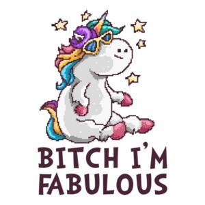 Bitch I'm Fabulous Retro T-Shirt