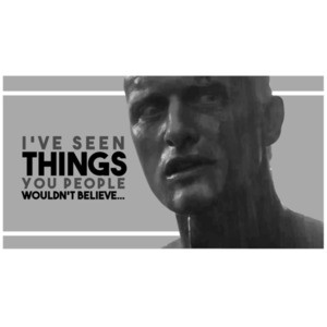 Blade Runner - I've seen things you people wouldn't believe - 80's t-shirt