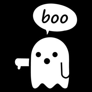 Boo Disapproval Ghost - funny halloween t-shirt