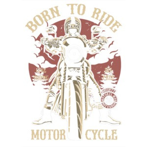 Born To Ride Motorcycle Bikers T-Shirt