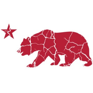 California Bear Star - California T-Shirt