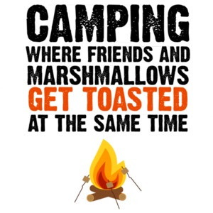 Camping - where friends and marshmallows get toasted at the same time - camping t-shirt