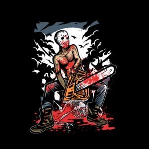 Chainsaw Killer Graphic T-Shirt