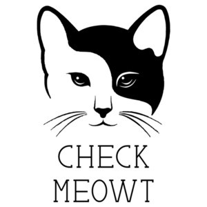 Check Meowt - Funny cat t-shirt
