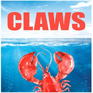 Claws - JAWS Parody. Funny lobster t-shirt. Maine t-shirt.