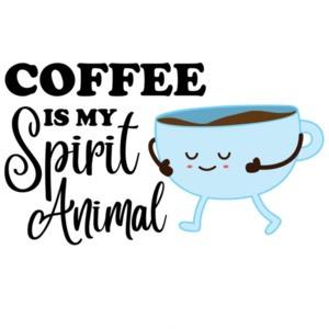 Coffee is my spirit animal - funny coffee t-shirt