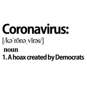 Coronavirus - noun - A hoax created by Democrats - Coronavirus T-Shirt