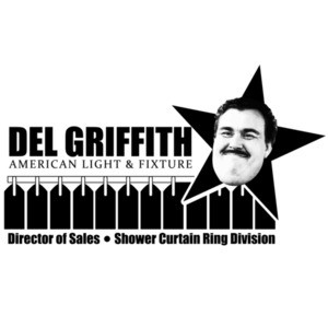 Del Griffith - American Light & Fixture - Director of Sales - Shower Curtain Ring Division - Planes Trains & Automobiles 80's T-Shirt