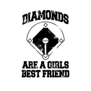 Diamonds Are A Girls Best Friend Baseball T-Shirt