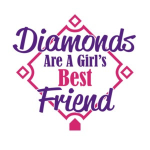 Diamonds Are A Girls Best Friend Colorful Baseball T-Shirt