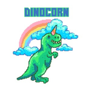 Dinocorn Retro Cute T-Shirt