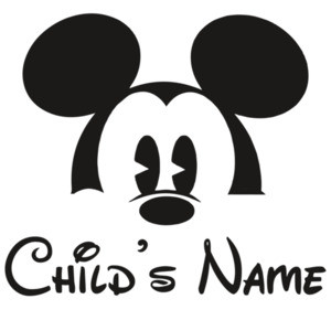 Disney Family Group Shirts - Mickey Child's Name - Disney T-Shirt