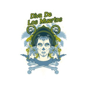 Diva De Los Muertos Death Diva Gothic T-Shirt