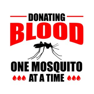 Donating blood - one mosquito at a time - camping t-shirt