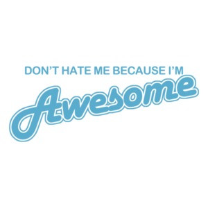 Don't Hate Me Because I'm Awesome T-shirt