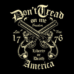 Dont Tread On Me Liberty Or Death Patriotic T-Shirt