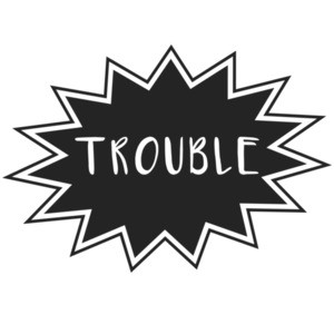 "Double Trouble - ""trouble"" couples Shirt"