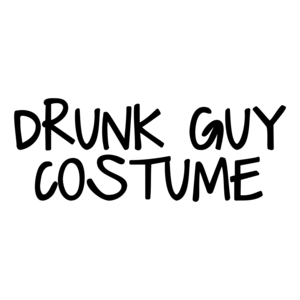 Drunk Guy Costume Halloween Shirt