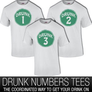 Drunk Group Shirts With Numbers T-Shirt
