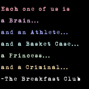 Each one of us stereotype The Breakfast Club T-Shirt