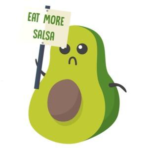 Eat more salsa - avocado t-shirt