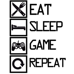 eat sleep game repeat - gaming t-shirt