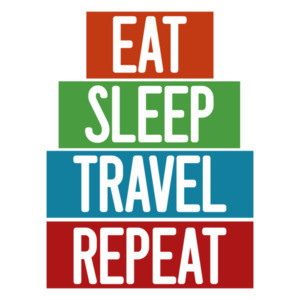 Eat Sleep Travel Repeat - funny t-shirt