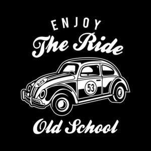 Enjoy The Ride Old School Beetle T-Shirt