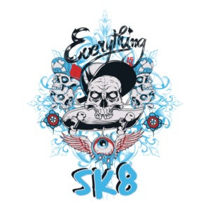 Everything Is Sk8 Skater T-Shirt