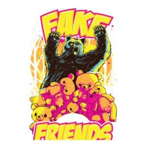 Fake Friends Trendy Bears Graphic T-Shirt