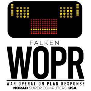 Falken WOPR - War Operation Plan Response - Norad Super Computers USA - War Games - 80's T-Shirt