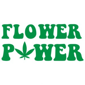 Flower Power - Cool Marijuana Weed T-Shirt