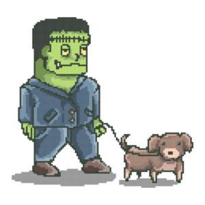 Franken Dog Cute Retro T-Shirt