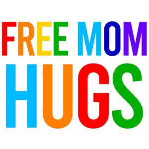 Free mom hugs - gay pride t-shirt
