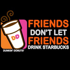 Friends don't let friends drink starbucks coffee t-shirt