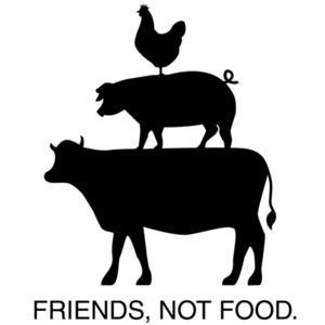 Friends, Not Food - Vegetarian T-Shirt