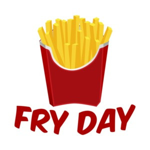 Fry Day Funny French Fries Pun T-Shirt