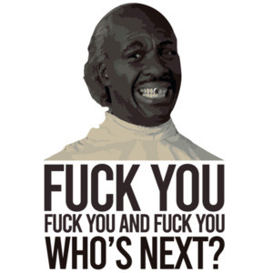 Fuck you, fuck you, and fuck you - who's next? Eddie Murphy Barber - Coming To America T-Shirt 80's T-Shirt