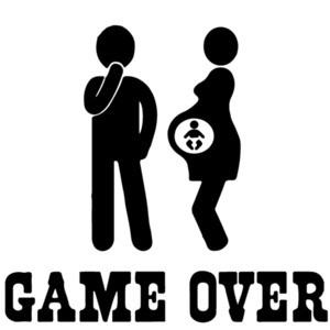 Game Over - Funny Pregnancy T-Shirt