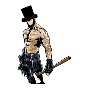 Gangsta Lincoln Tough Guy T-Shirt