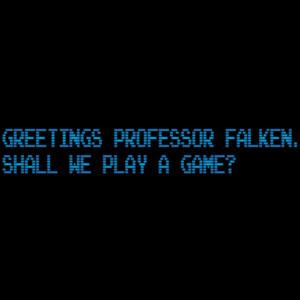 Greetings Professor Falken. Shall we play a game? War Games - 80's T-Shirt
