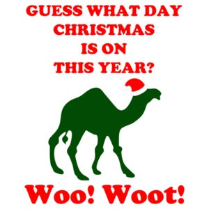 Guess What Day Christmas Is On Hump Day Shirt