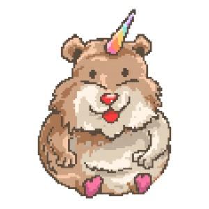 Hamster Unicorn Retro Cute T-Shirt
