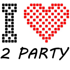 I Love 2 Party - Cool T-Shirt