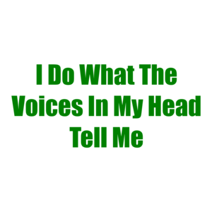 I Do What The Voices In My Head Tell Me Shirt