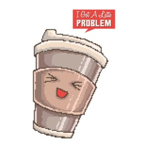 I Got A Latte Problem Retro Cute T-Shirt