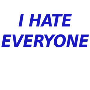 I hate everyone - funny t-shirt